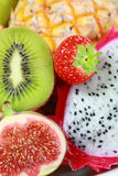 Fresh fruits. Delicious fresh fruits background as dessert royalty free stock photo