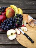 Fresh fruits with apples and grapes Royalty Free Stock Photo