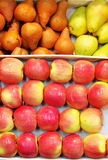 Fresh fruits: apples and pears Stock Photography