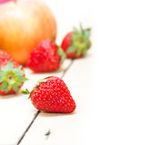 Fresh fruits apples pears and strawberrys Royalty Free Stock Images