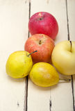Fresh fruits apples and  pears Royalty Free Stock Image