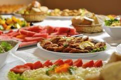 Fresh fruits arrangement. In luxury restaurant royalty free stock photo