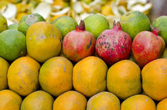 Fresh fruits in asia market Royalty Free Stock Photography