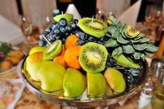 Fresh fruits attractively served to the table Stock Photography