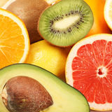 Fresh fruits background Royalty Free Stock Photography