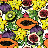 Fresh fruits background Royalty Free Stock Image