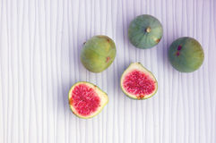 Fresh fruits background with figs Stock Photography