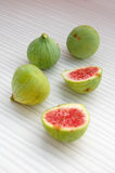 Fresh fruits background with figs Royalty Free Stock Images