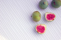 Fresh fruits background with figs Royalty Free Stock Photography