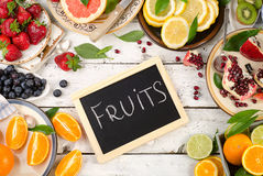 Fresh fruits background.Healthy eating. Royalty Free Stock Photography