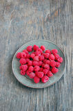 Fresh fruits background with raspberries Stock Image