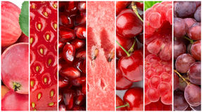 Fresh fruits background Stock Image