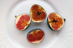 Fresh fruits background with ripe figs Stock Photos