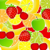 Fresh fruits background vector illustration Royalty Free Stock Photos