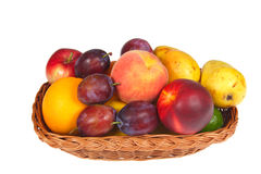 Fresh fruits in a basket Stock Image