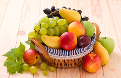 Fresh fruits in basket Stock Photo