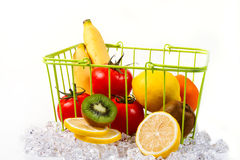 Fruits. Fresh fruits in the basket Royalty Free Stock Photo
