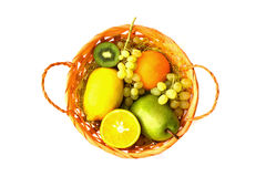 Fresh fruits in a basket Stock Photography