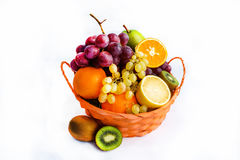 Fresh fruits in a basket.  Stock Photography