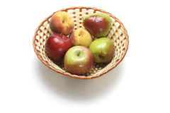 Fresh Fruits in Basket Stock Photography