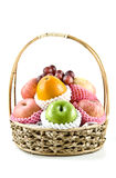 Fresh fruits in basket Royalty Free Stock Image