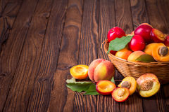 Fresh fruits in a basket Royalty Free Stock Photos