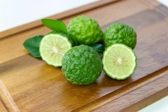 Fresh fruits bergamot with cut in half stock image