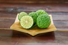 Fresh fruits bergamot with cut in half royalty free stock photography