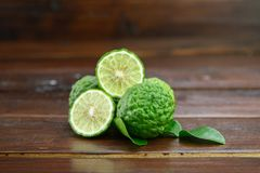 Fresh fruits bergamot with cut in half royalty free stock photo
