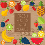 Fresh fruits and berries. Royalty Free Stock Photography