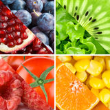 Fresh fruits, berries and vegetables Royalty Free Stock Images