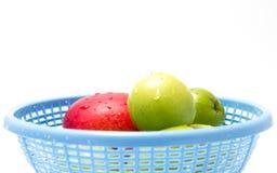 Fresh Fruits. In blue basket Stock Photo