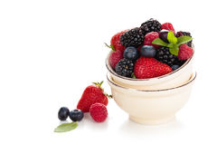Fresh fruits in bowl. Stock Photo