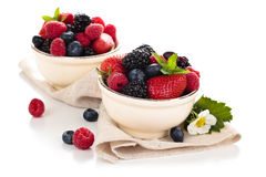 Fresh fruits in bowl. Royalty Free Stock Photo