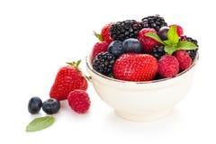 Fresh fruits in bowl. Stock Photos