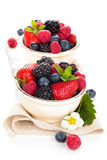 Fresh fruits in bowl. Royalty Free Stock Images