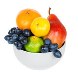 Fresh fruits in bowl Royalty Free Stock Photography