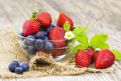 Fresh fruits in a bowl Stock Images