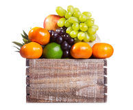 Fresh fruits in a box Stock Image
