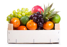 Fresh fruits in a box Royalty Free Stock Images