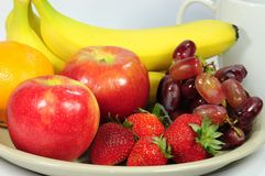 Fresh fruits for breakfast Royalty Free Stock Images