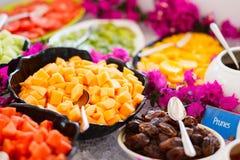 Fresh fruits plates Royalty Free Stock Photos