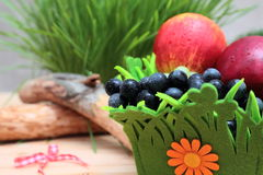 Fresh fruits in a bucket Royalty Free Stock Images