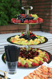 Fresh fruits catering menu Stock Image