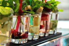 Fresh fruits cocktails Stock Photos
