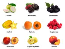 Fresh Fruits Collage Royalty Free Stock Image