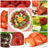 Fresh fruits collage Stock Photo