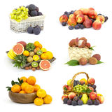 Fresh fruits - collage Stock Photography