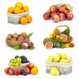 Fresh fruits - collage Stock Images