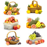 Fresh fruits - collage Royalty Free Stock Photo
